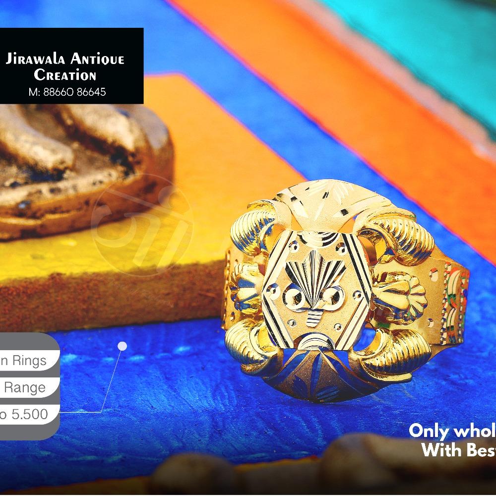 22K Fancy Design Nazaran Gold Ring JAR-013