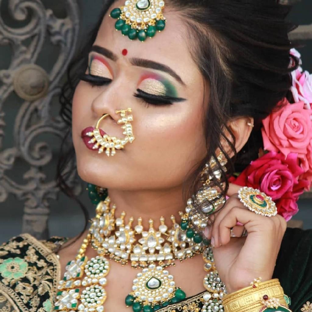 gold plated pachhi kundan rani har with choker nackless