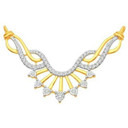 18K Gold Real Diamond Mangalsutra MGA - RMS0012