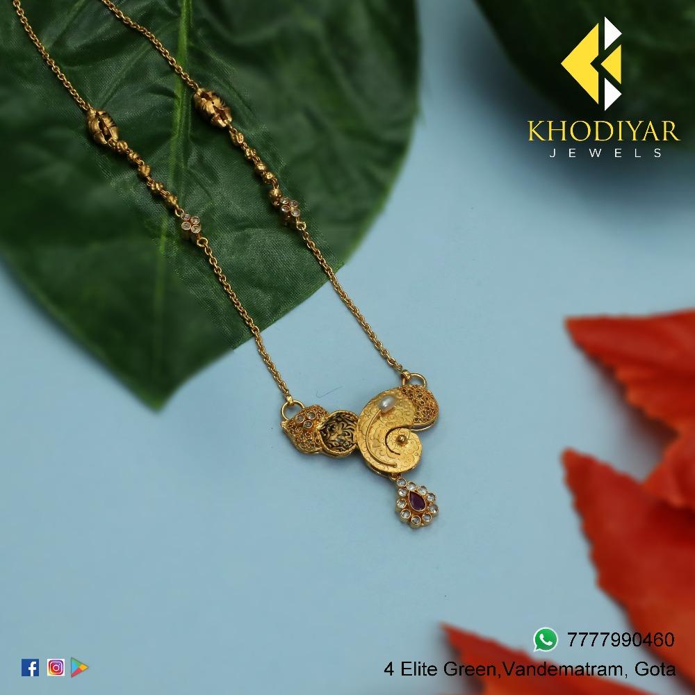 22KT Gold Designer Necklace KJ-N010
