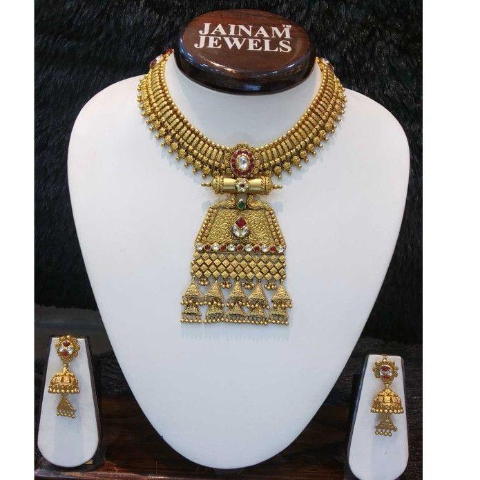 22kt gold rajwadi bridal set