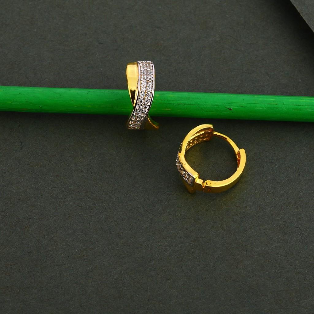 750 Gold Cz Delicate Earring Bali LFB118