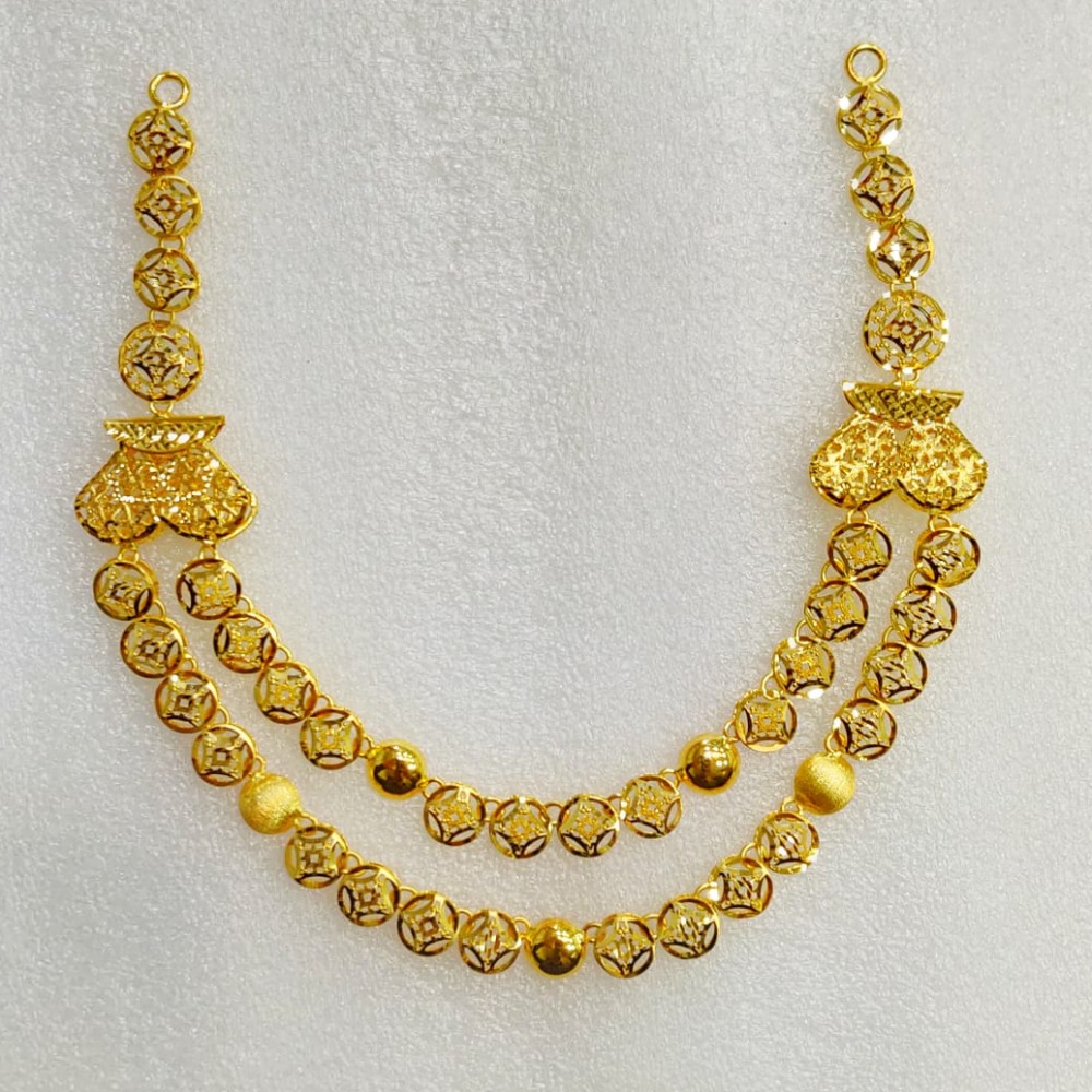 22KT Gold Designer 2 Layer Necklace MJ-N002
