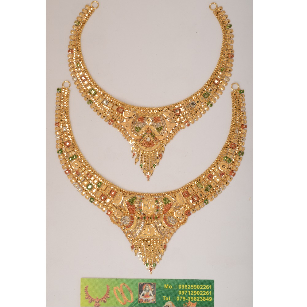 916 Gold Classic Necklace For Wedding