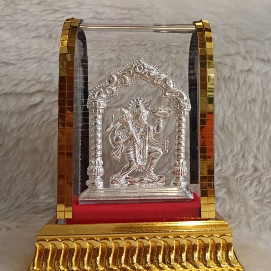 silver hanumanji casting murti