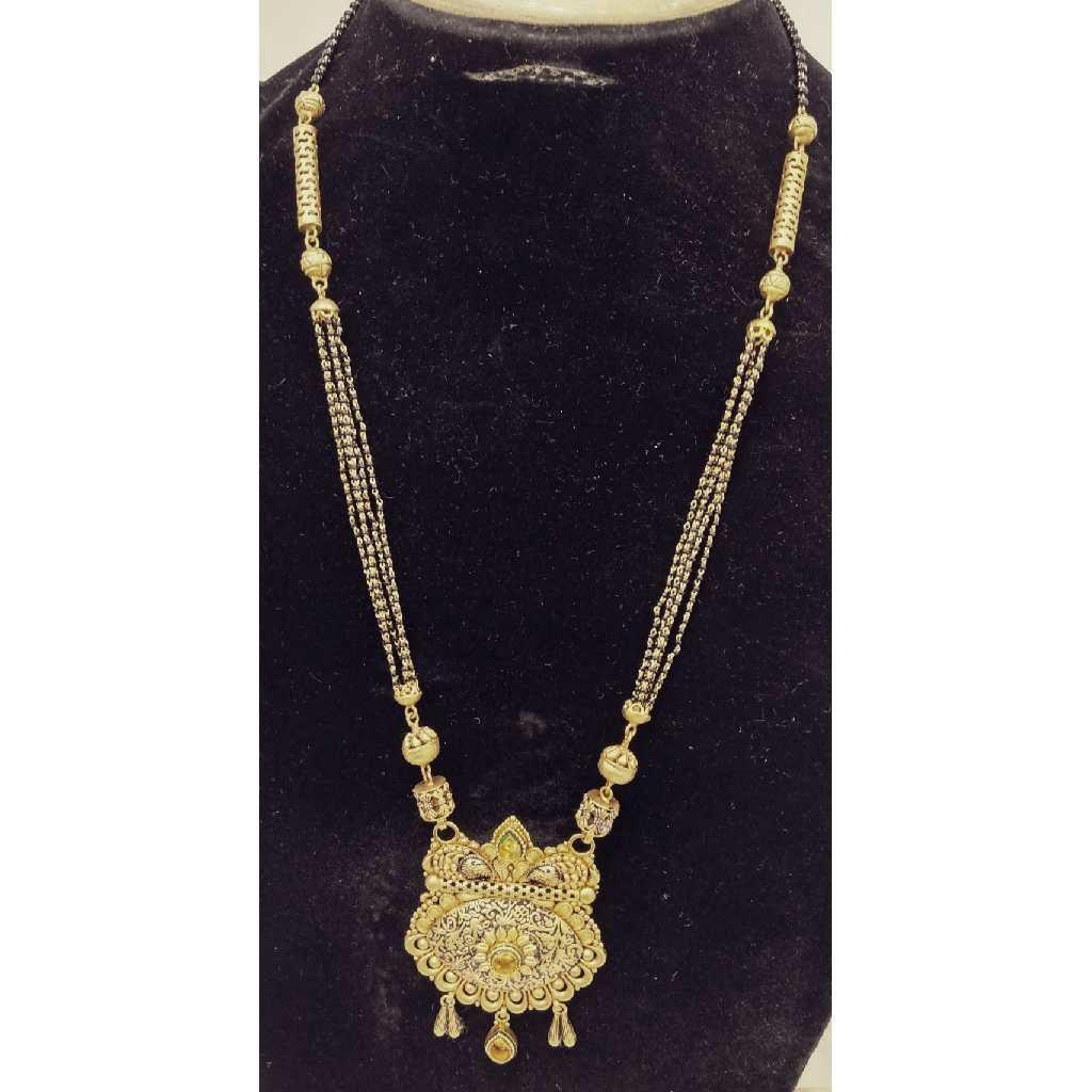 22KT Gold Antique Bridal Long Mangalsutra