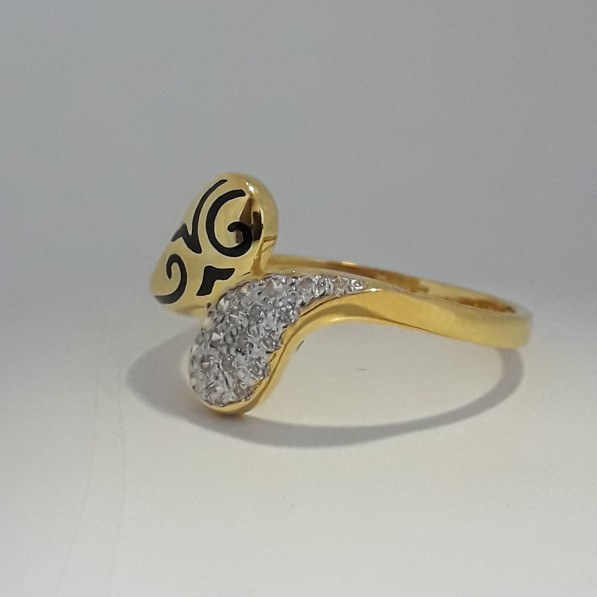 916 Gold fancy carving ring MJ-NH1974