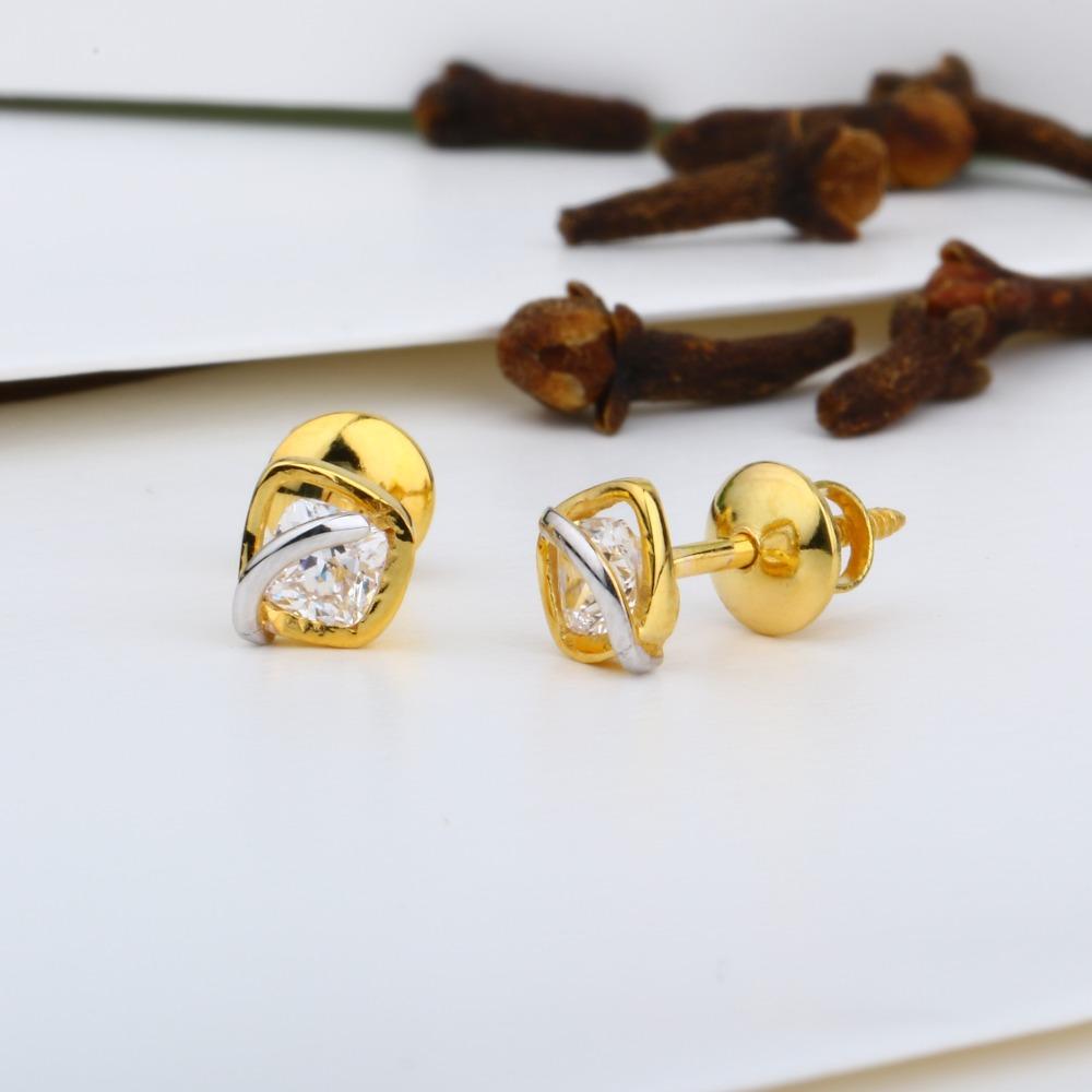 22kt gold swarovski tops jj-e018