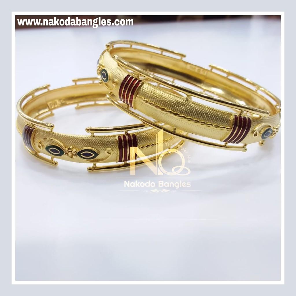 916 Gold Patra Bangles NB - 839