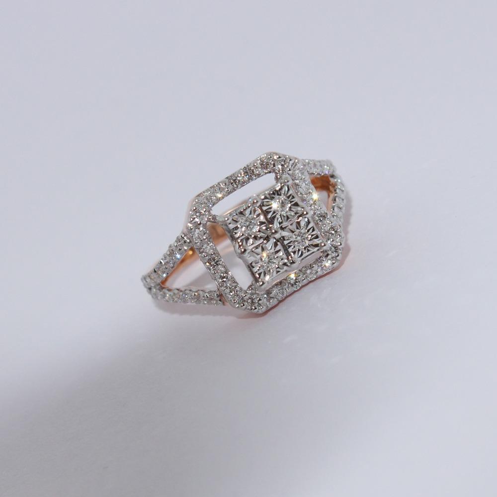 18K gold diamond ring agj-gr-306