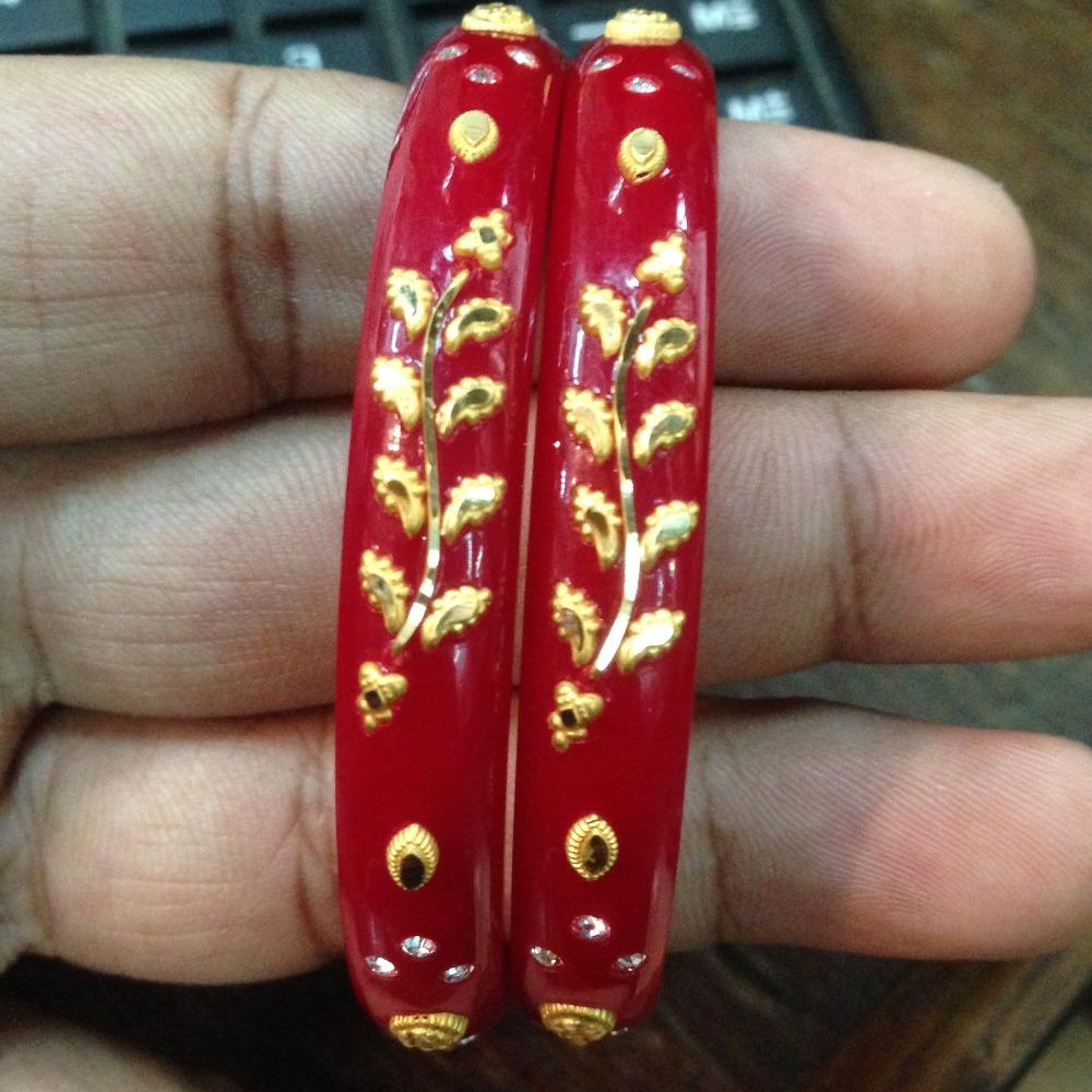 916 gold flower well chudi