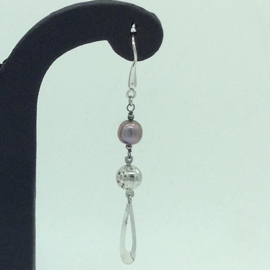 PearlSilverEar HangingsJER0155