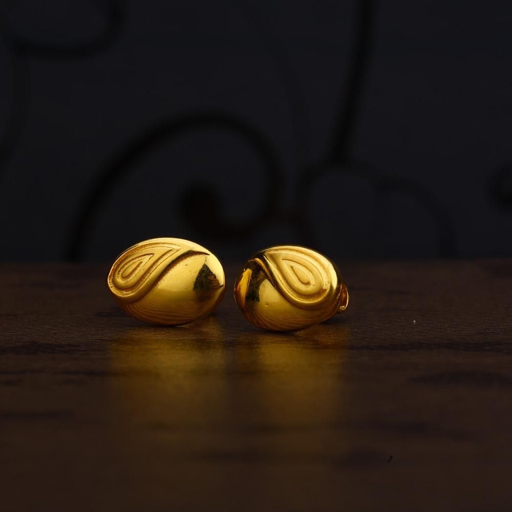 Ladies 916 Gold Fancy CZ Earring -LPE224