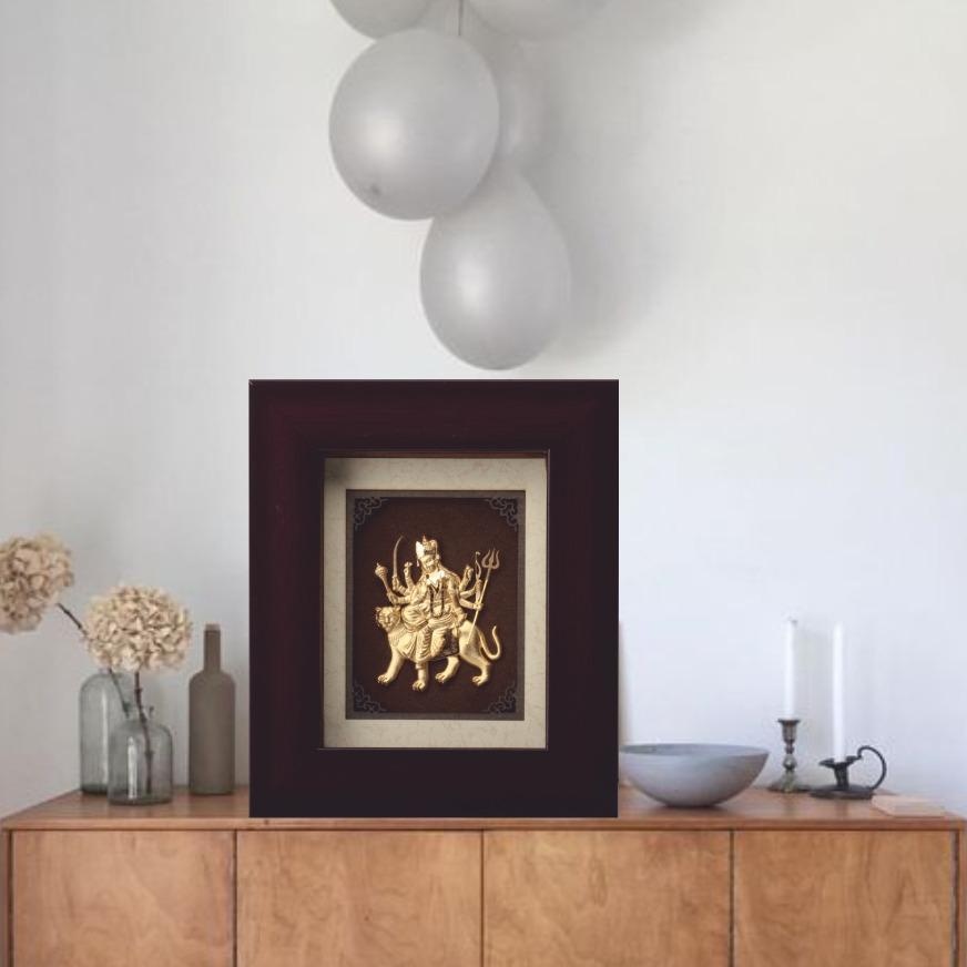 Mini Solid Durga Maa Frame