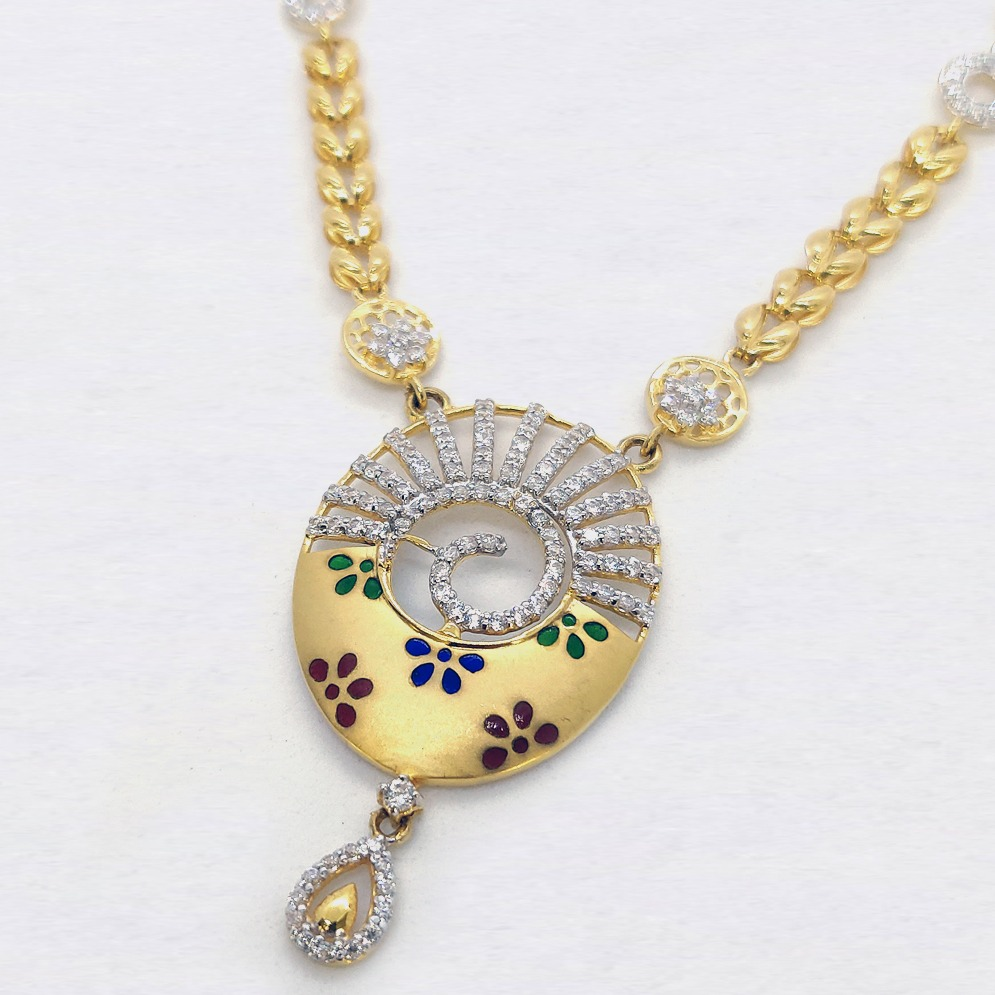 916 Gold Designer Necklace Set SK-N013
