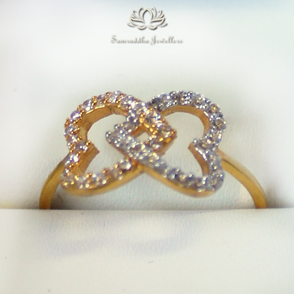 916 Gold Heart Shape Certified Diamond Ring SJ - R002