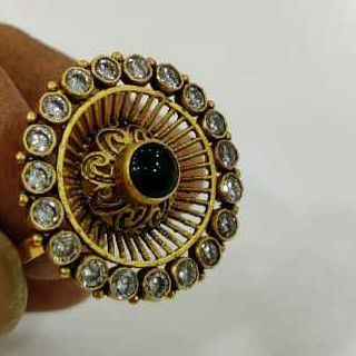 916 antique stone gold ring