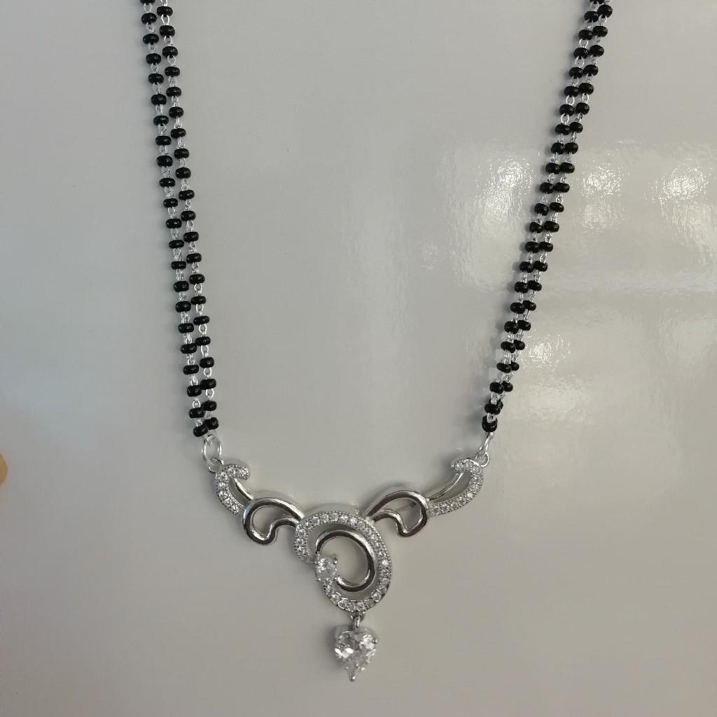 sterling silver fancy mangalsutra