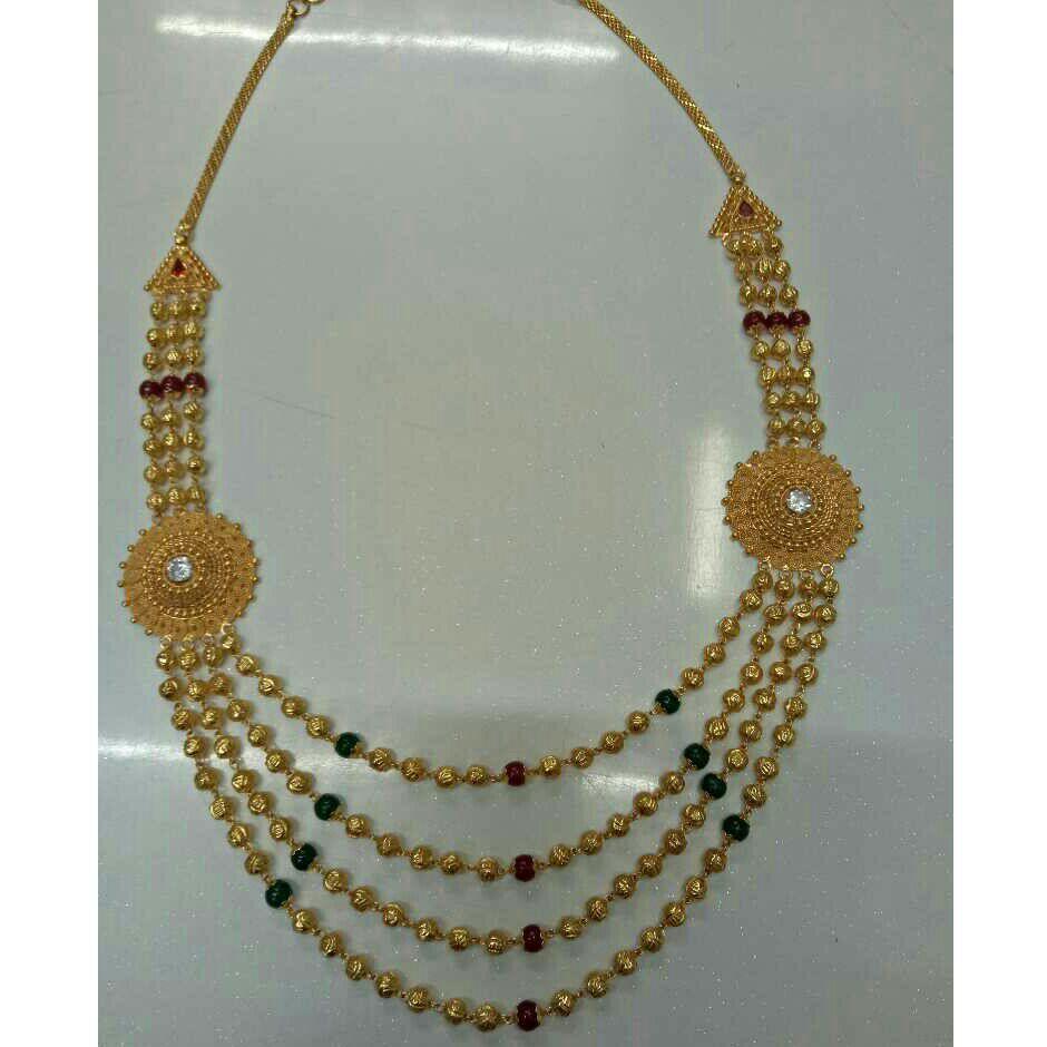 916 Gold Fancy Broch Mala