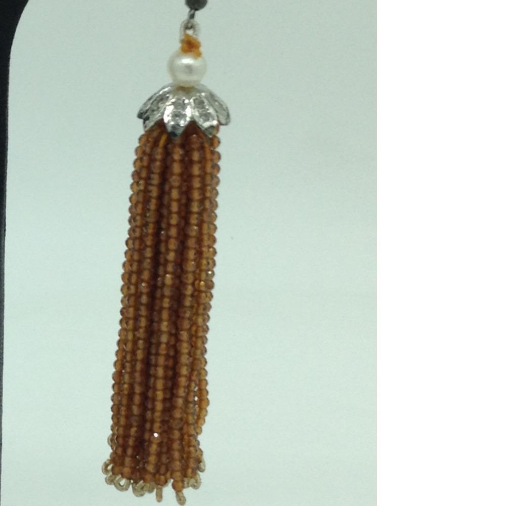 Golden Citrine Stones Ear Chandelier HangingsJER0017