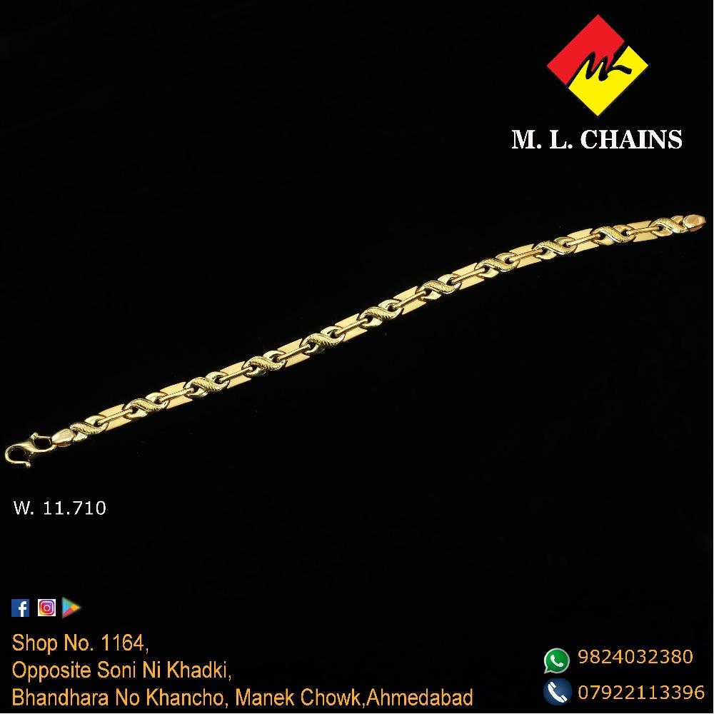 22K Gold Fancy Lucky Bracelet ML-B05