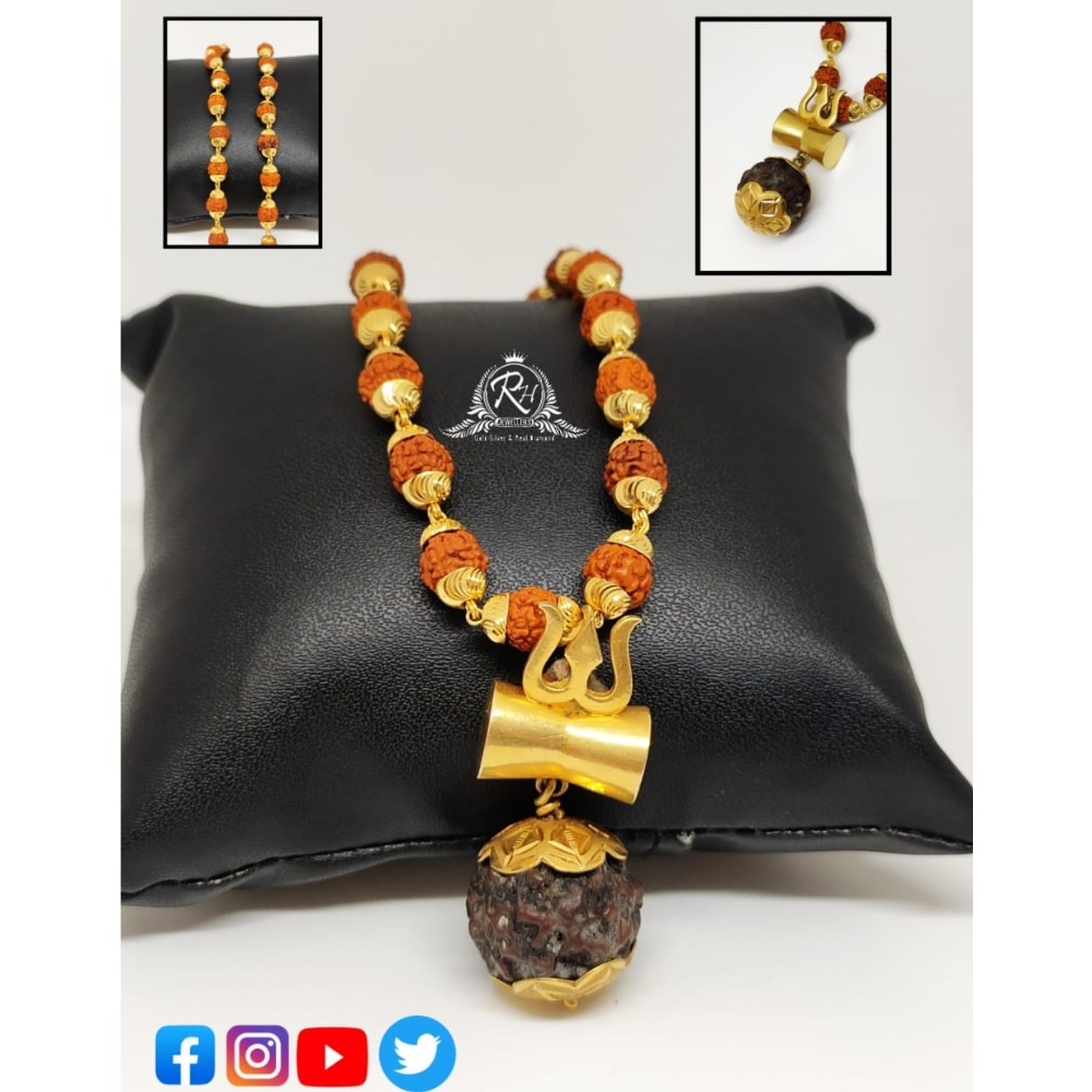 22 carat gold shiv rudraksh chain RH-PC540