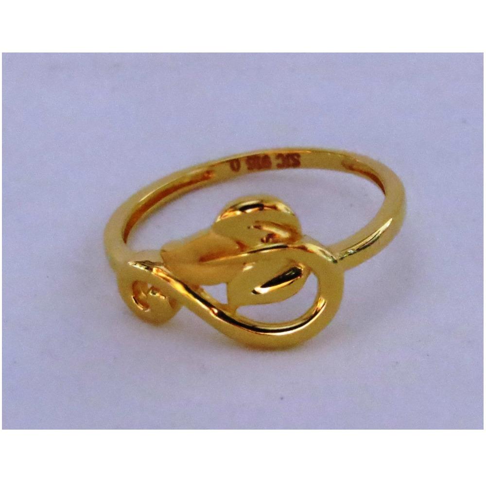 916 plain casting leaf ring for women
