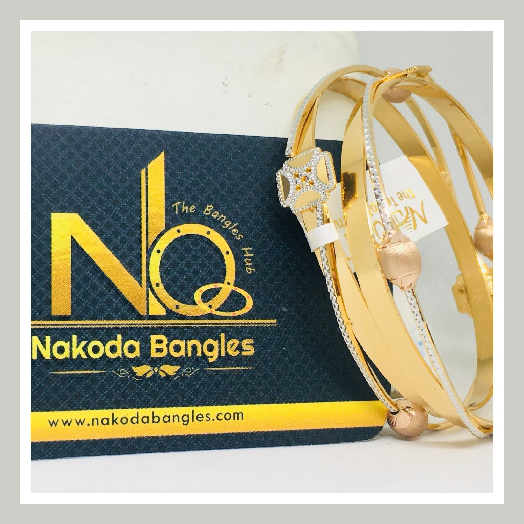 916 Gold CNC Bangles NB - 725