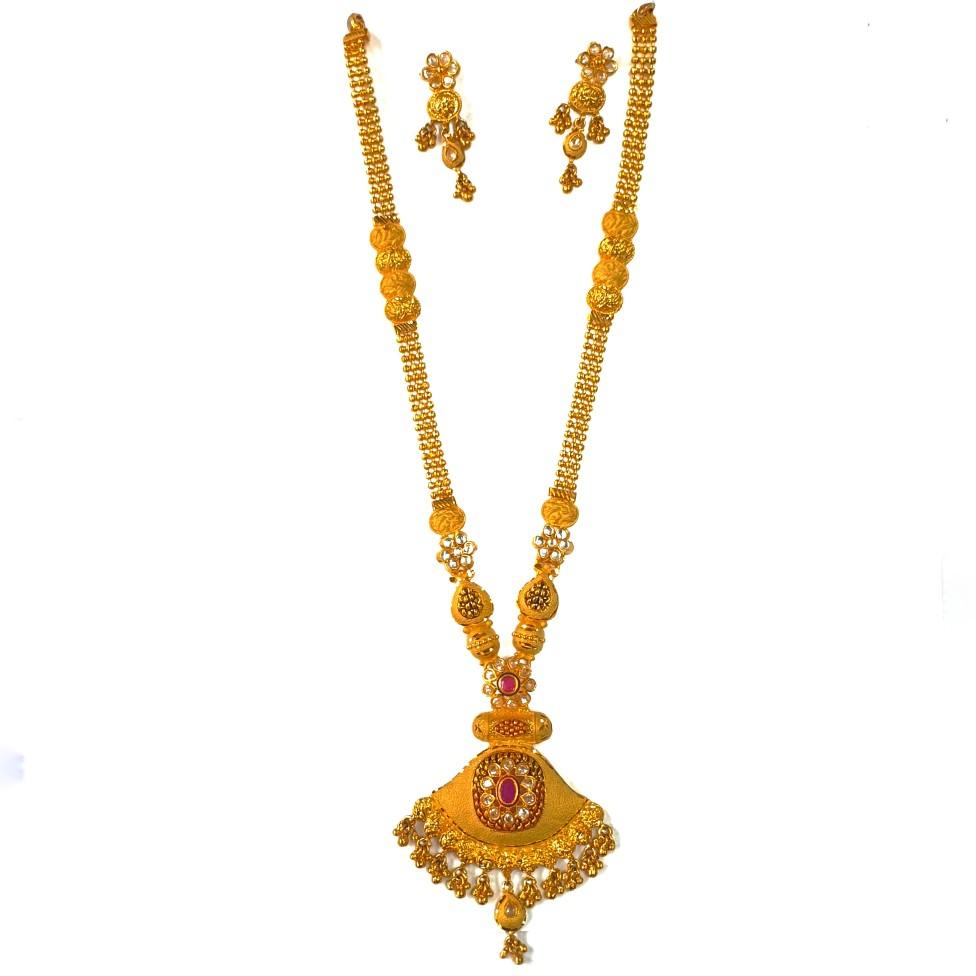 1 gram gold forming necklace set mga - gfn0031