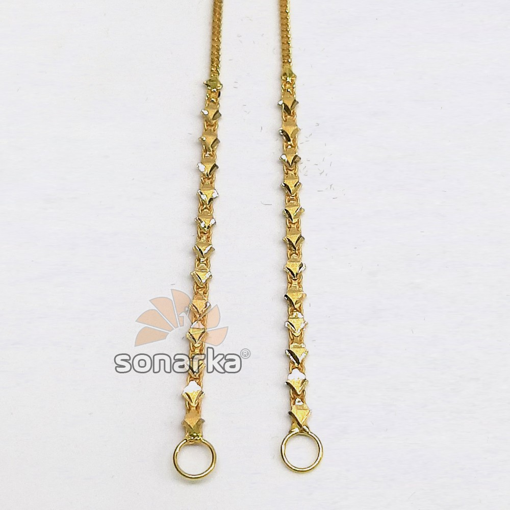 Light Weight Gold Earchain Kanser SK- K028
