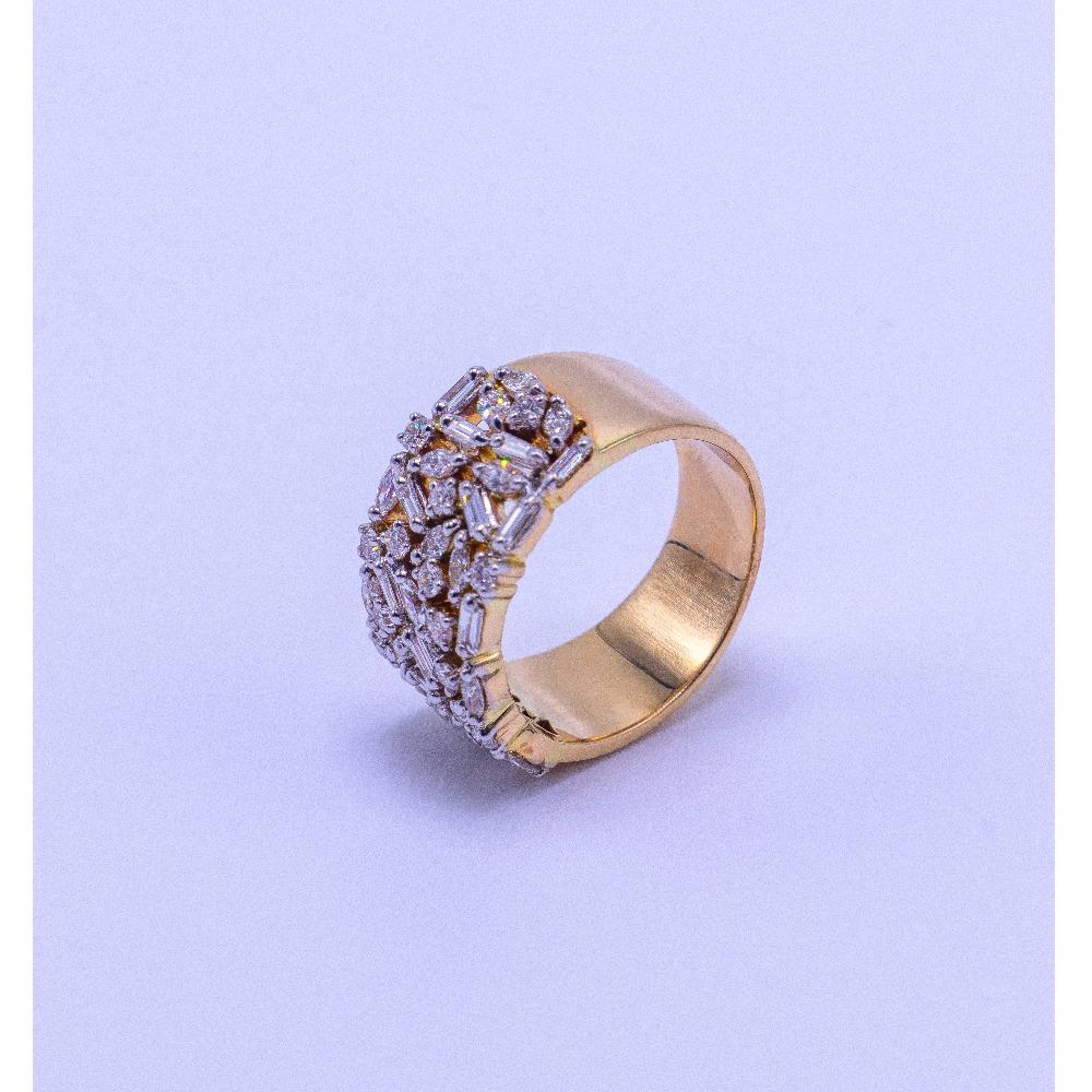 18k gold diamond thumb ring agj-lr-229