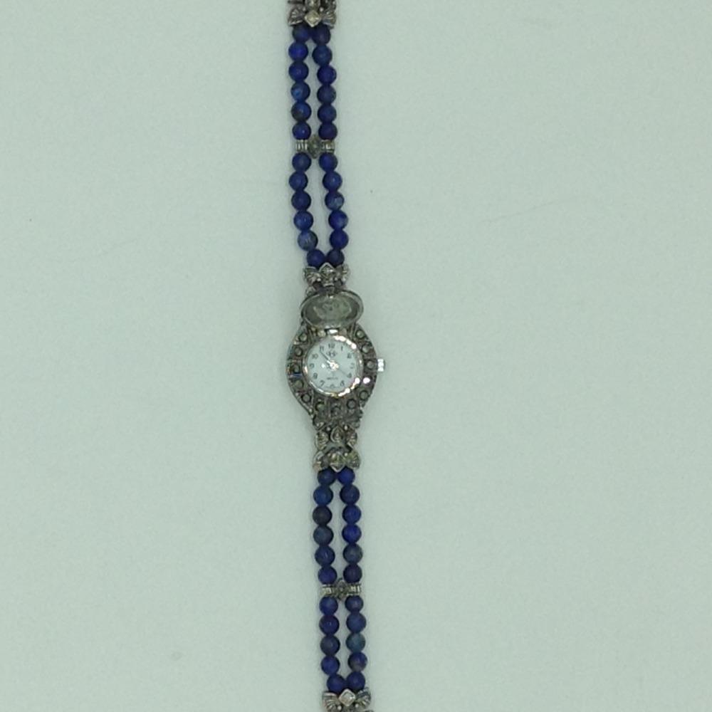 Natural lapis lazulirounddesigner concealed watchjbg0240