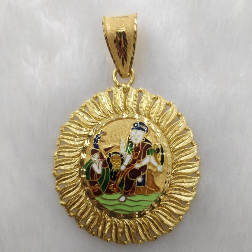 916 Gold Vahanvati Maa Pendant