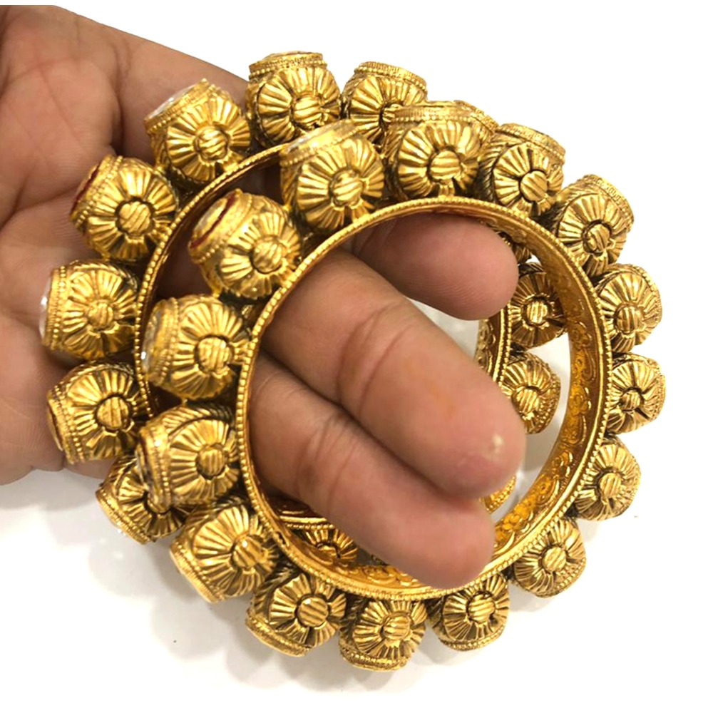 916 Gold Antique Traditional Rajasthani Kadla