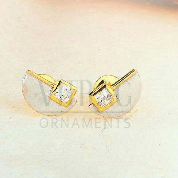 18kt Stylish Gold Solitar Stone Tops STG -0082