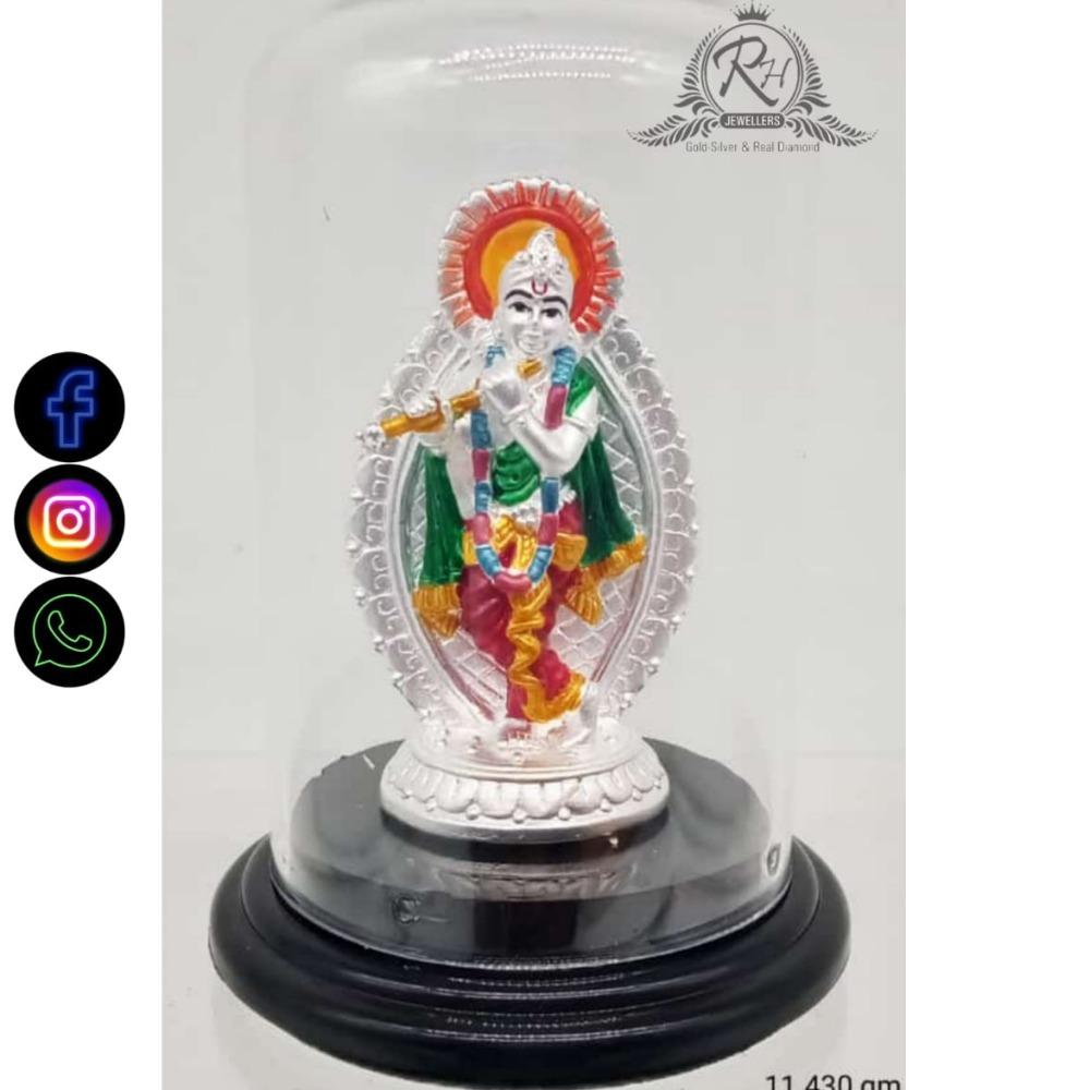 silver lord krishna murti RH-PJ541