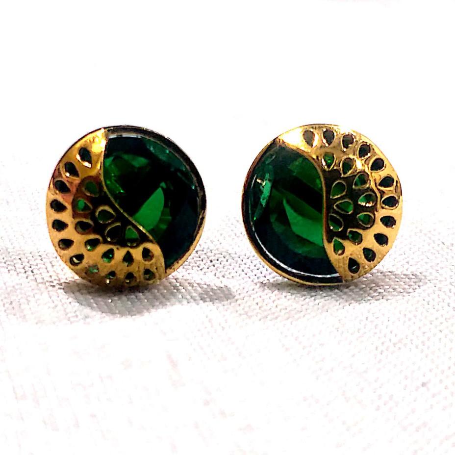 18k gold fancy earring
