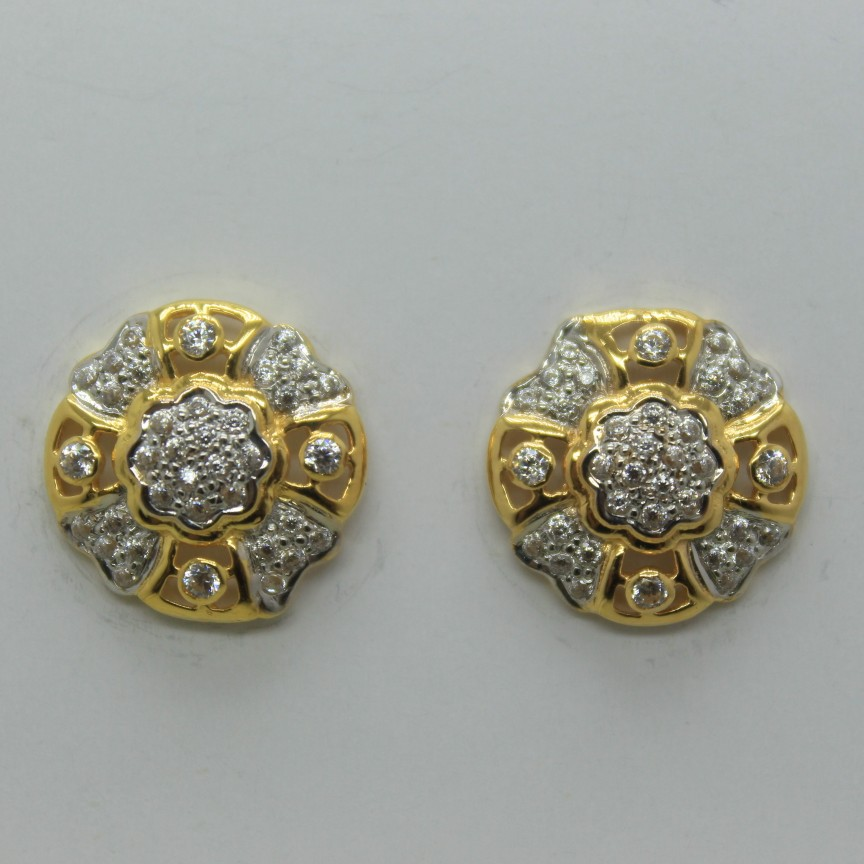 22k gol earrings for women