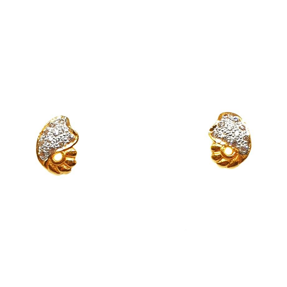 22K Gold Modern Earrings MGA - BTG0190