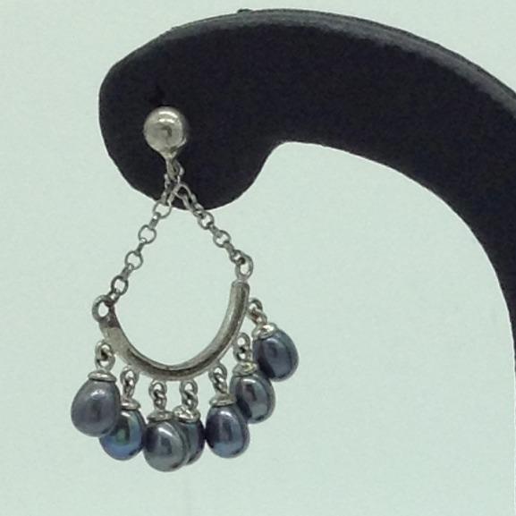 PearlSilverEar HangingsJER0163