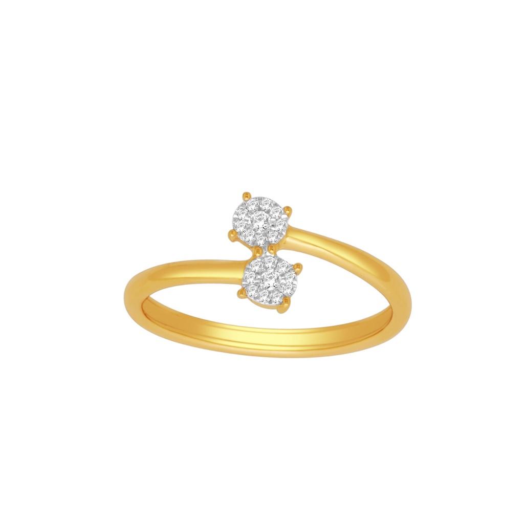 Fancy real diamond ladies ring