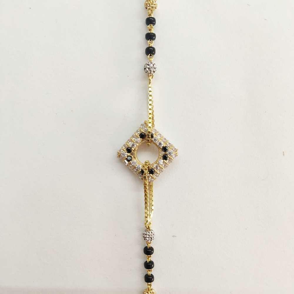 22k Gold Diamond Square Bracelet DVJ-016
