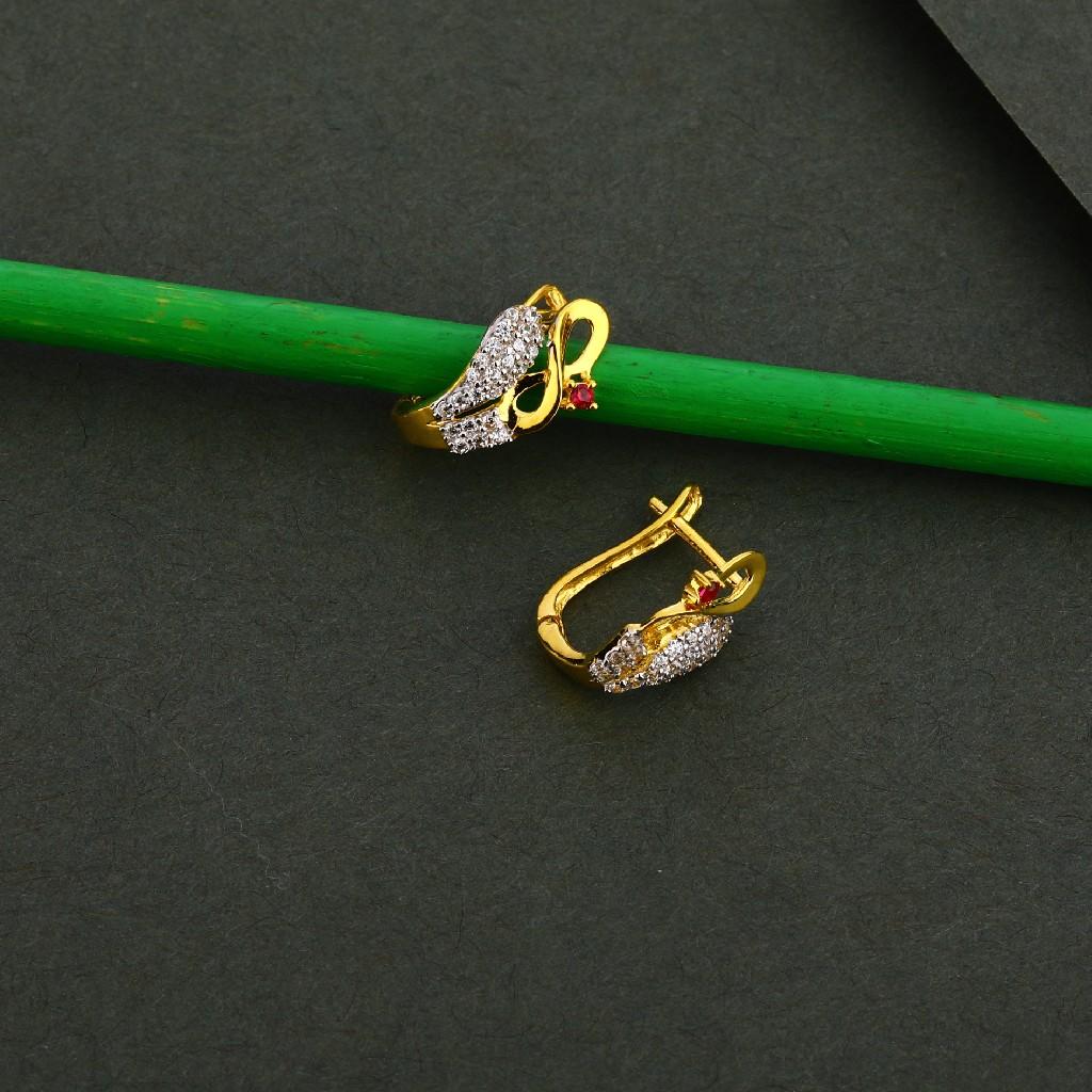 750 Gold Cz Stylish Earring Bali LFB110