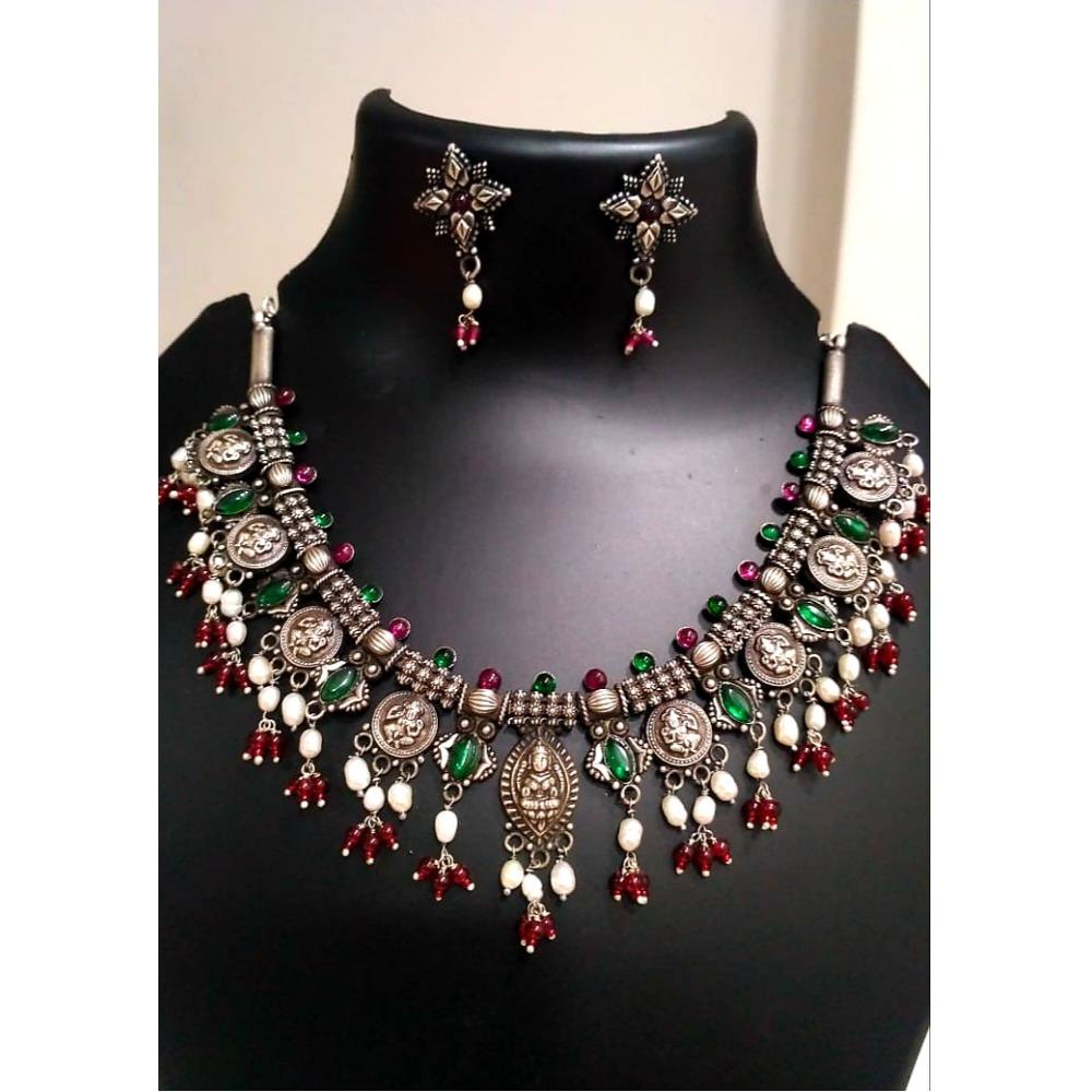 925 Silver Antique traditional Necklace Set VJ-N001