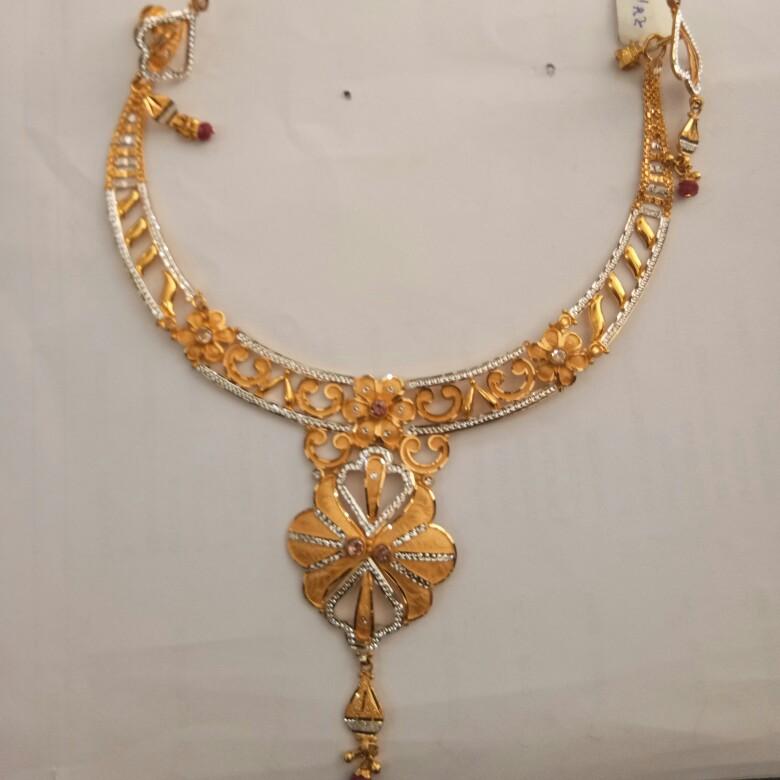 916 Gold hallmark Necklace set FZ7514
