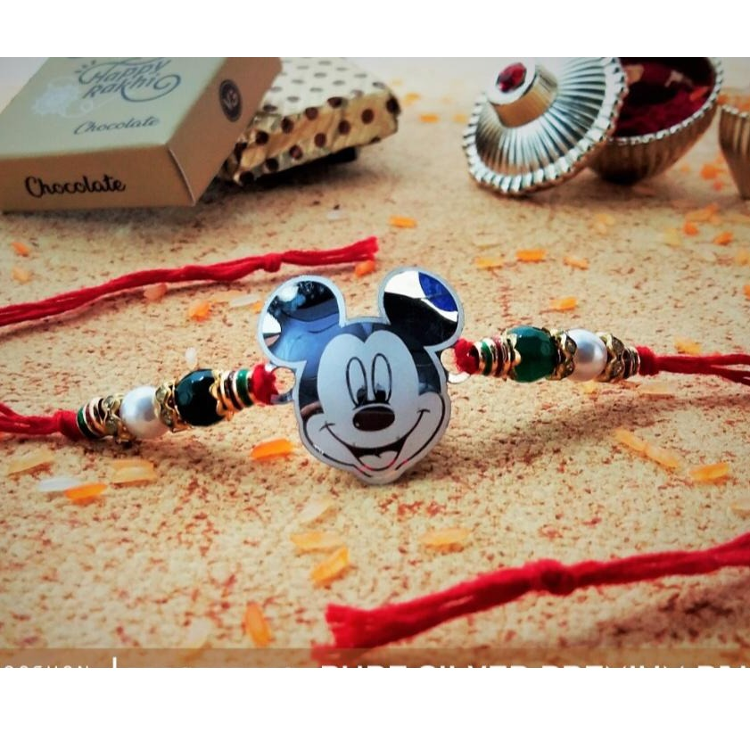 Silver 999 Micky Mouse Rakhi RH-R9