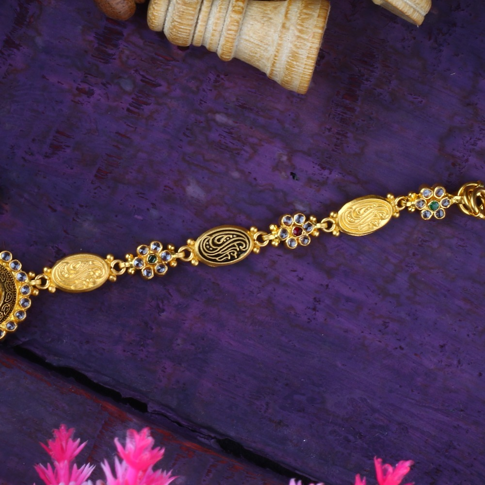 916 Gold Attractive Bracelet For women RJ-B01