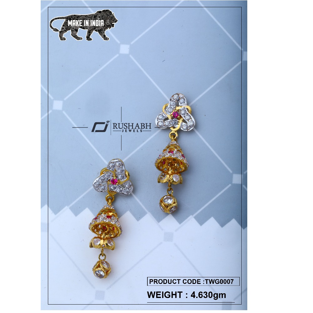 18 carat Gold ladies zummer tops  long earrings twg0007