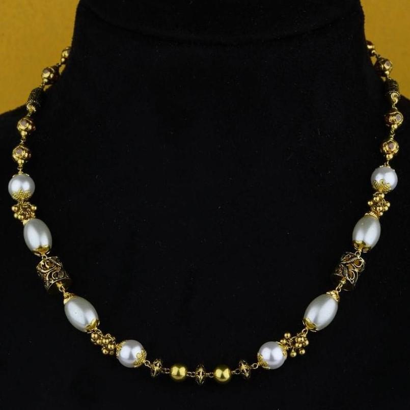 22KT Yellow Gold Sheen  Pal Antique Mala For Women