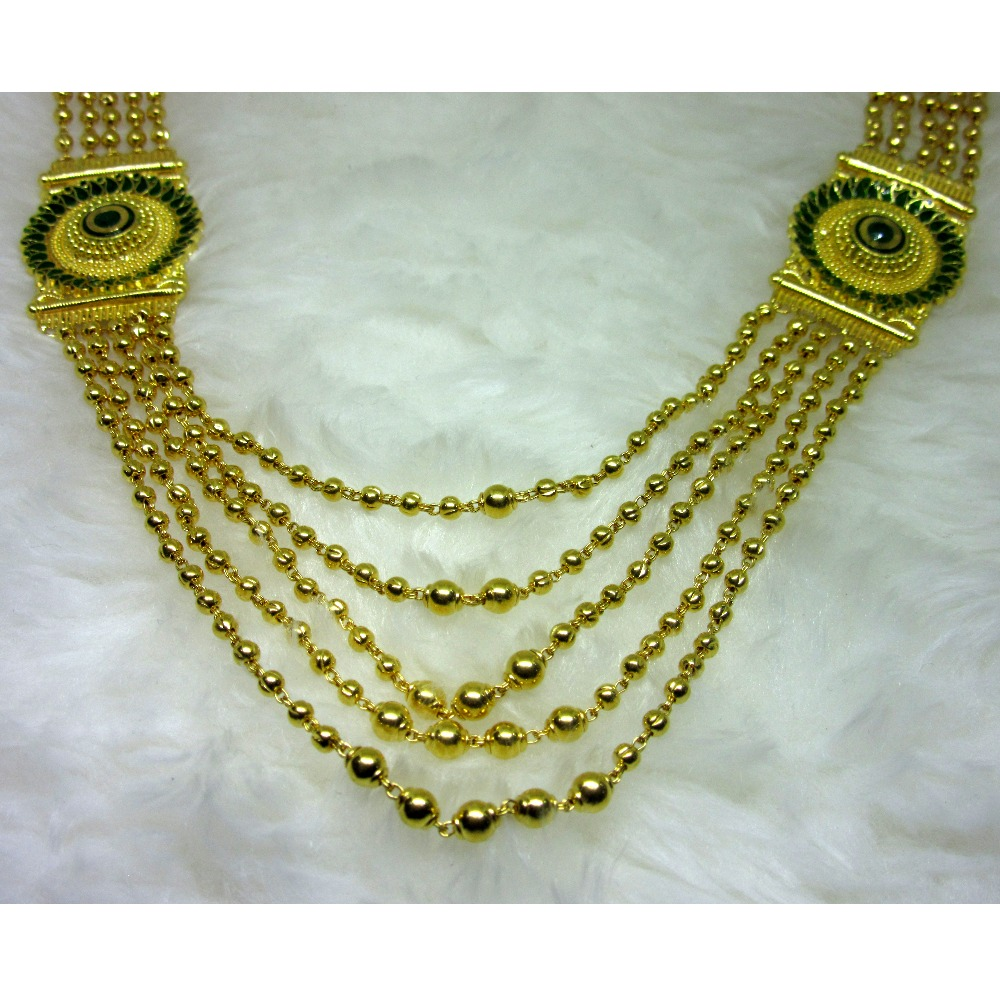 Antique Royal Gold Five Line Prince Mala